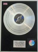 PINK FLOYD  -  LP  Platinum disc  -  WISH YOU WERE HERE
